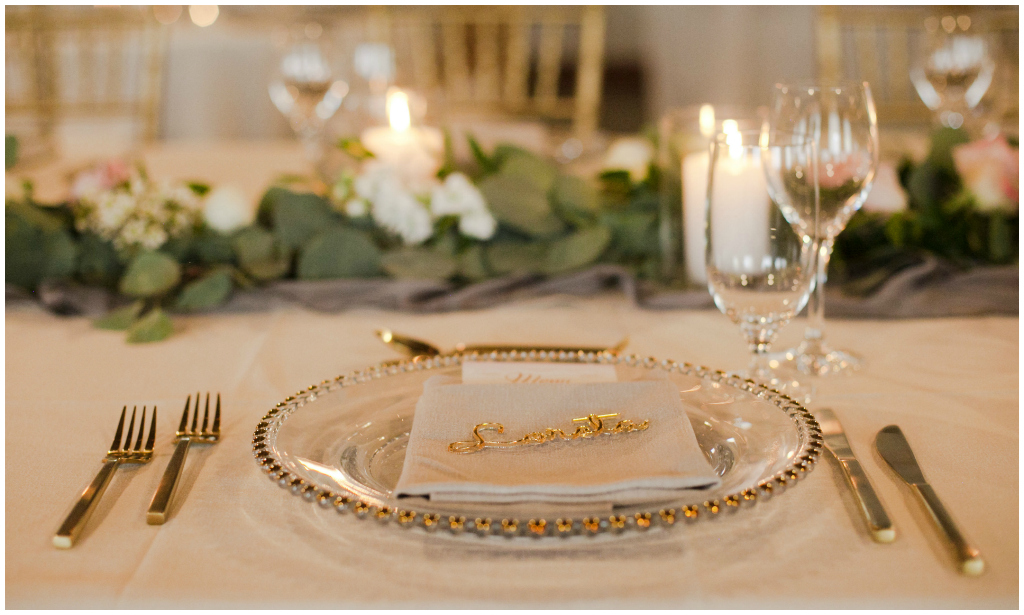 Lazer Cut Gold Place Cards
