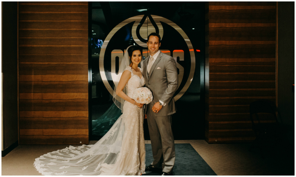 Rogers Place Edmonton Oilers Wedding Photos