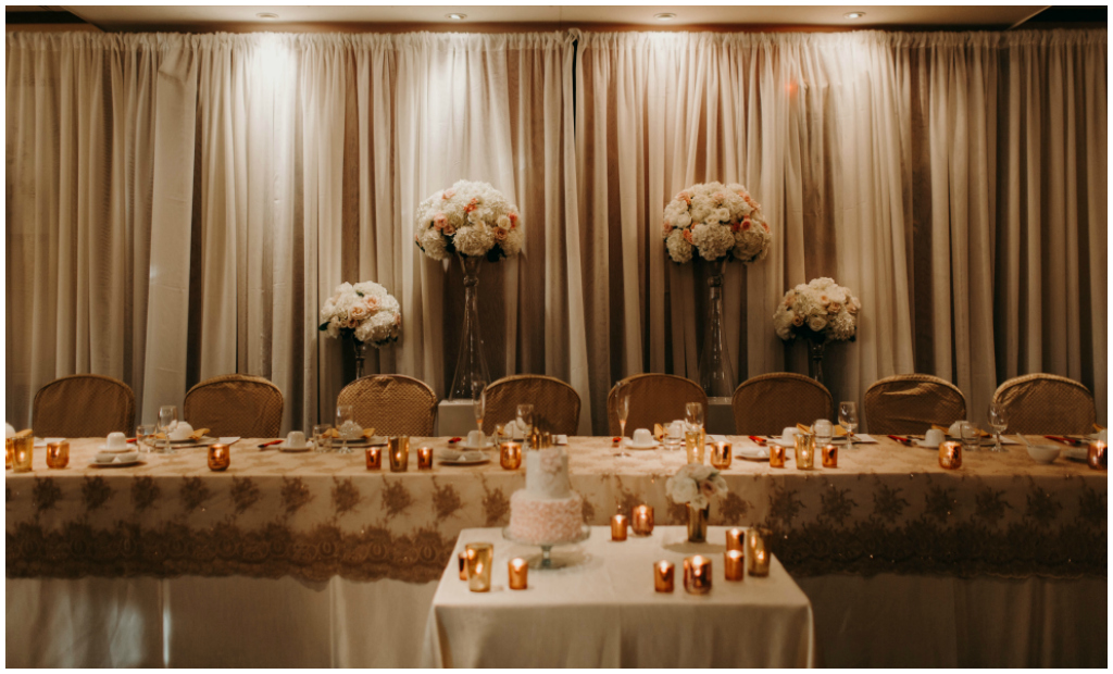 Shades of Pink and Gold Wedding