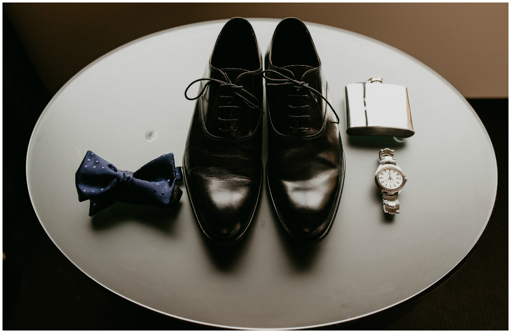 Grooms Details, Grooms Bowtie + Shoes