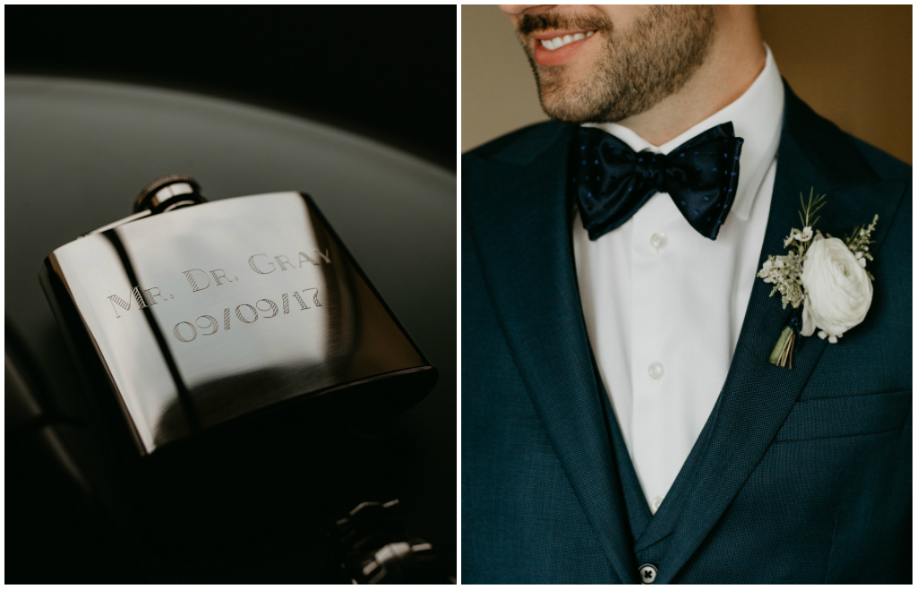 Engraved Wedding Flask