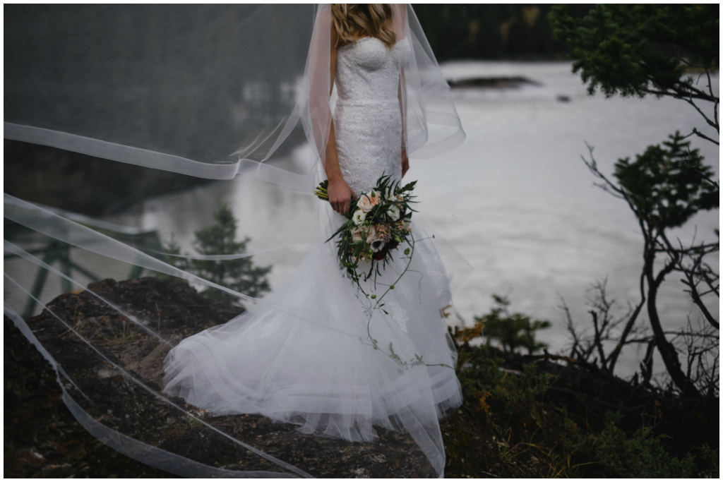 jasper alberta mountain bride photos