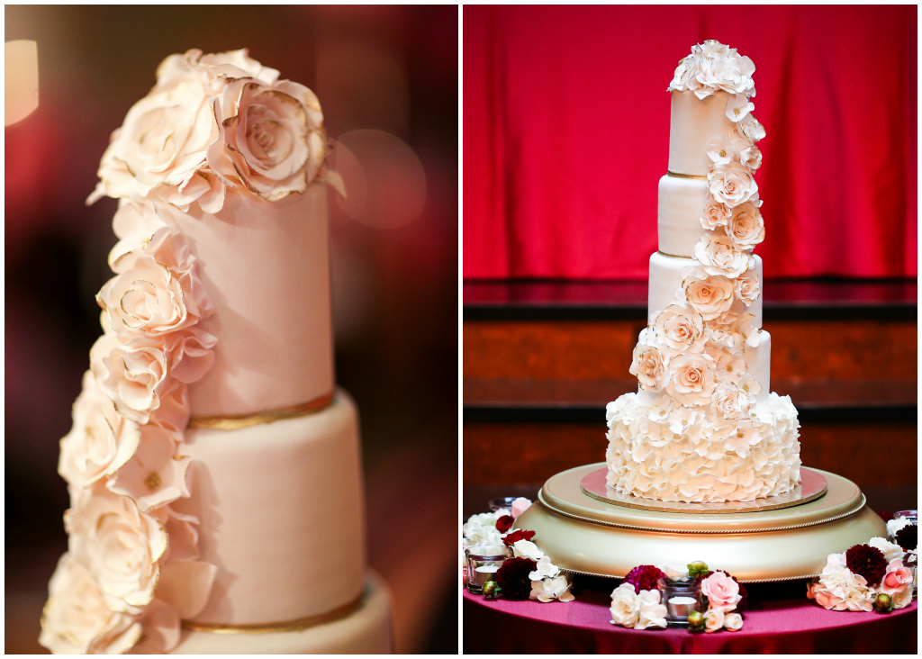 Elegant Rose Wedding Cake