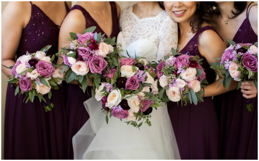 Purple Blush and Plum Bouquets