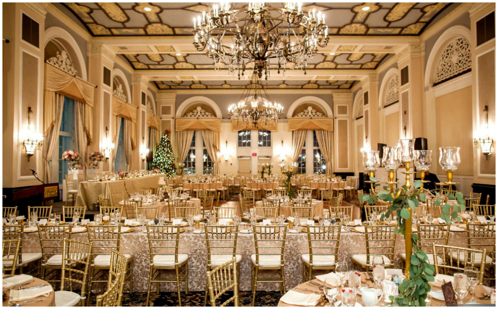 Fairmont Hotel Macdonald Empire Ballroom Winter Wedding Edmonton