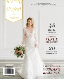 Fall Winter 2018 Confetti Magazine Feature, Jennifer Bergman Weddings in Confetti Magazine