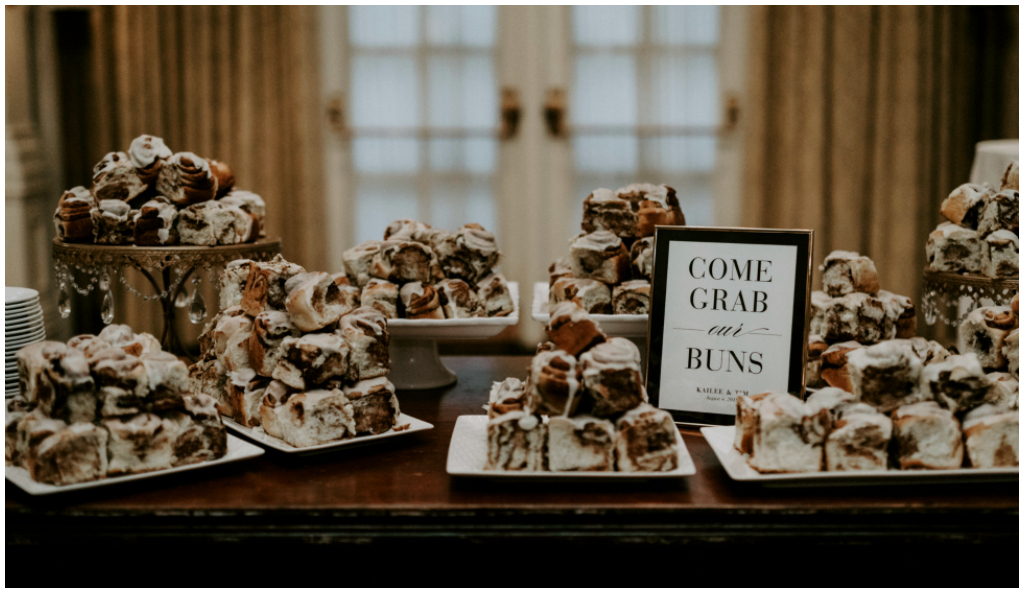 Edmonton Wedding Cinnamon Bun Table