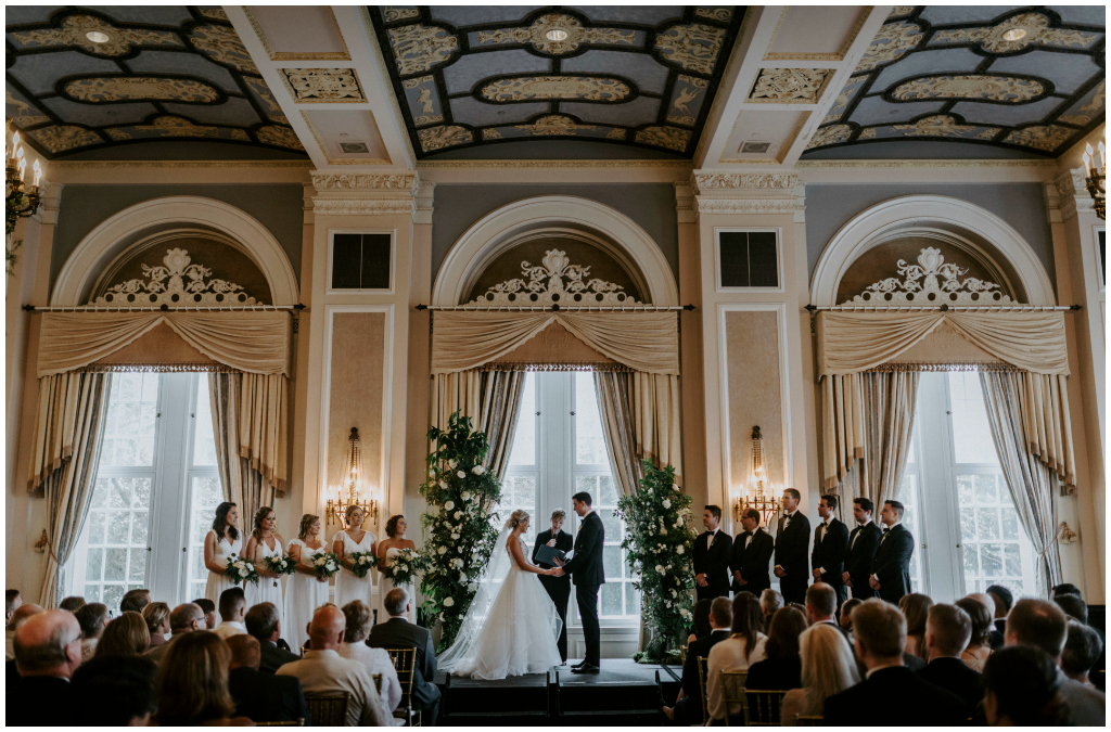 Jennifer Bergman Wedding Planner, Elegant Empire Ballroom Wedding Ceremony