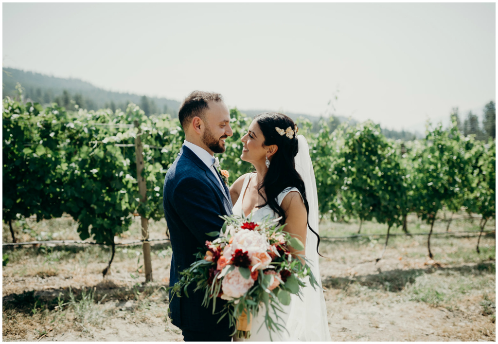 British Columbia Vineyard Summer Wedding