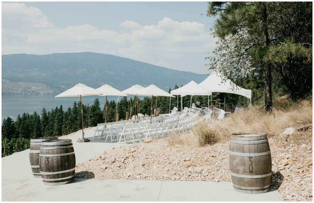 Okanagan Valley Outdoor Wedding Ceremony
