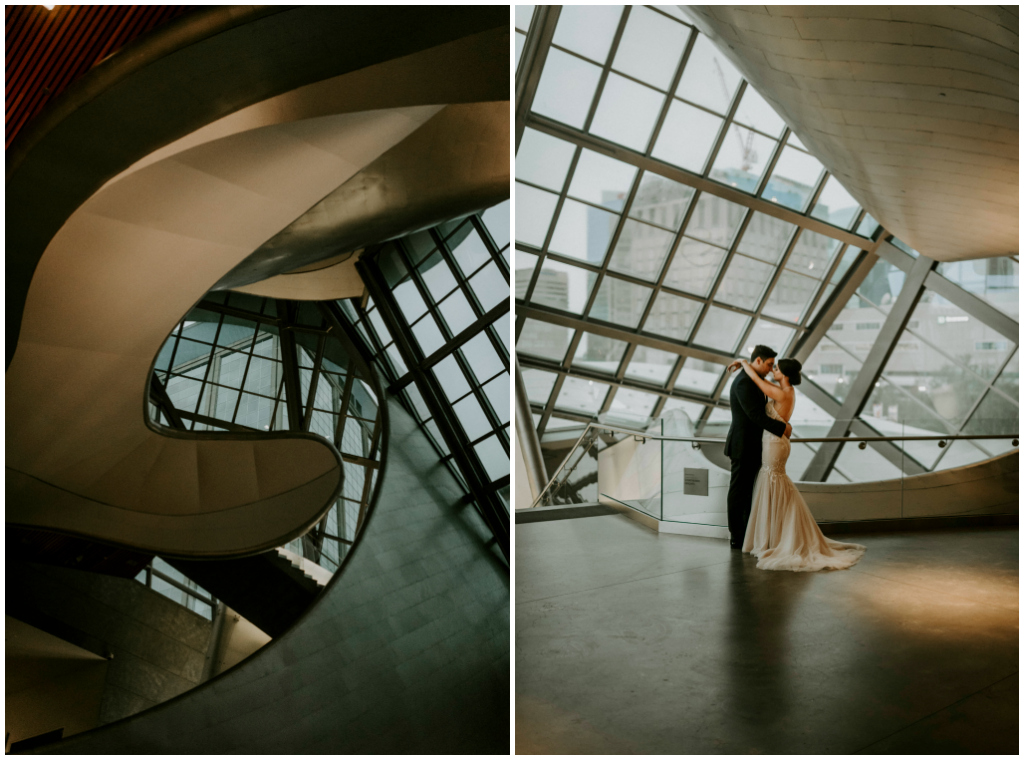 Modern Art Gallery Wedding Edmonton