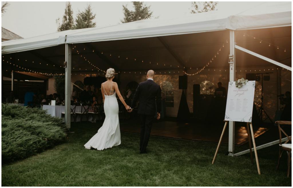White Span Edmonton Tent Wedding