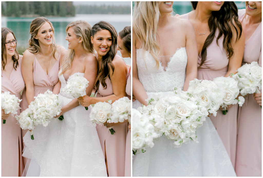 Rocky Mountain Wedding Planner, Soft Pink Bridal Party