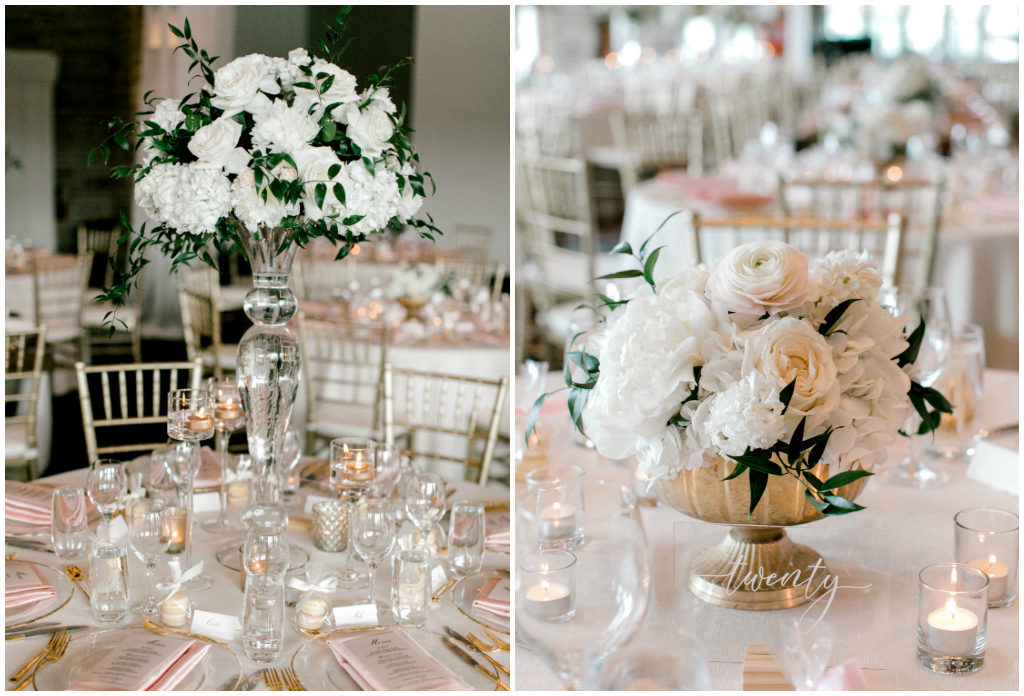 Mixed Height Floral Centrepieces