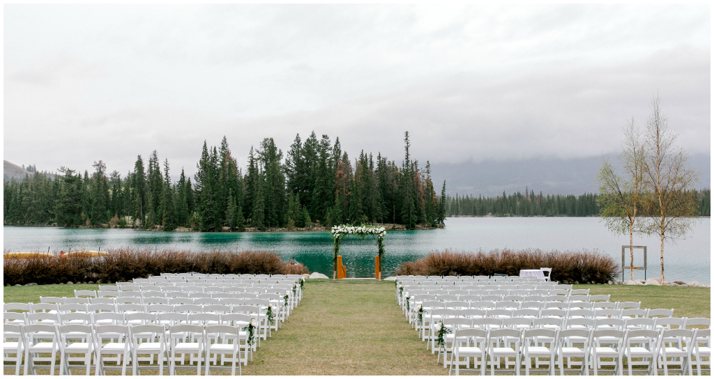 Rainy Spring Outdoor Wedding