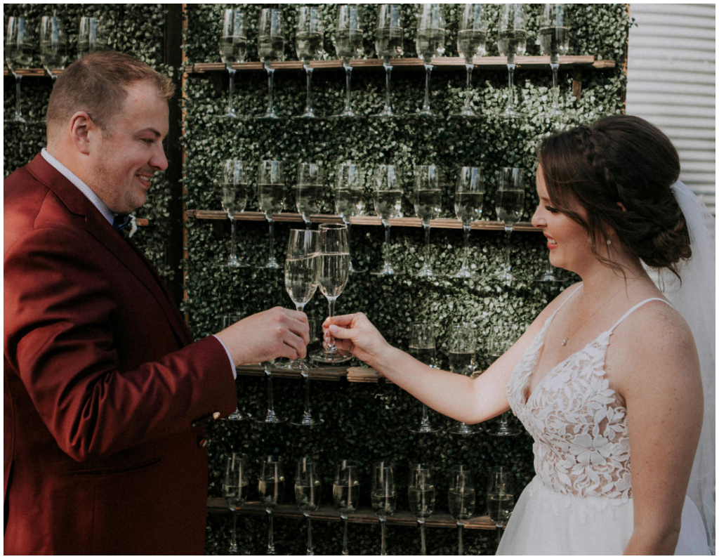 Wedding Champagne Wall