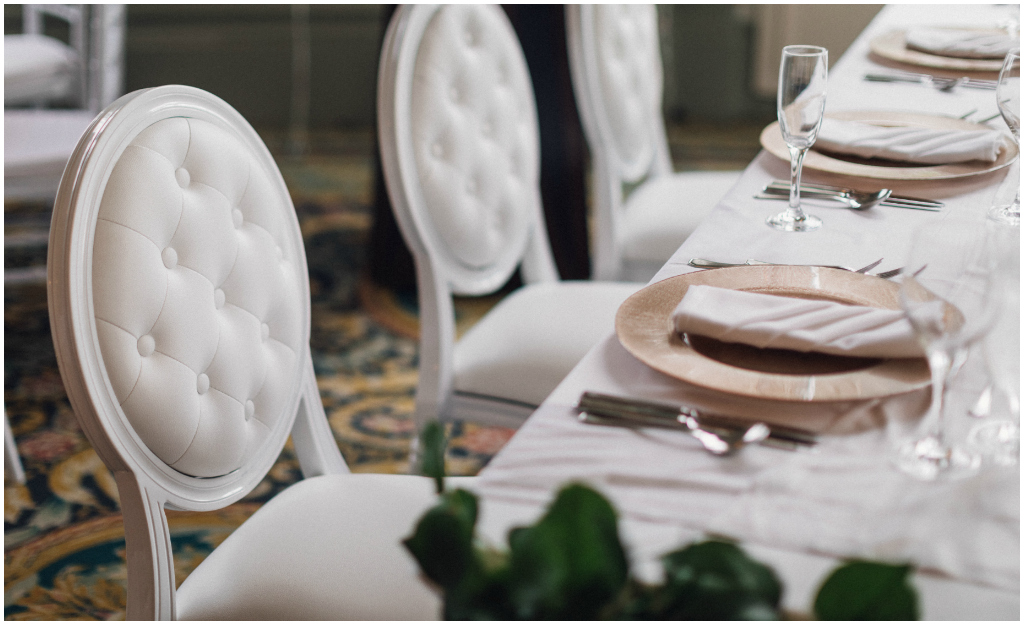 Luxe White Chairs from Special Event Rentals