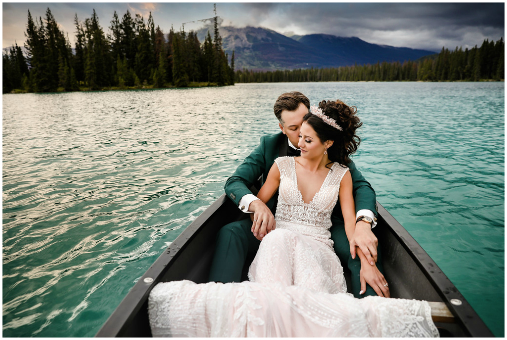 Bride + Groom Canoe