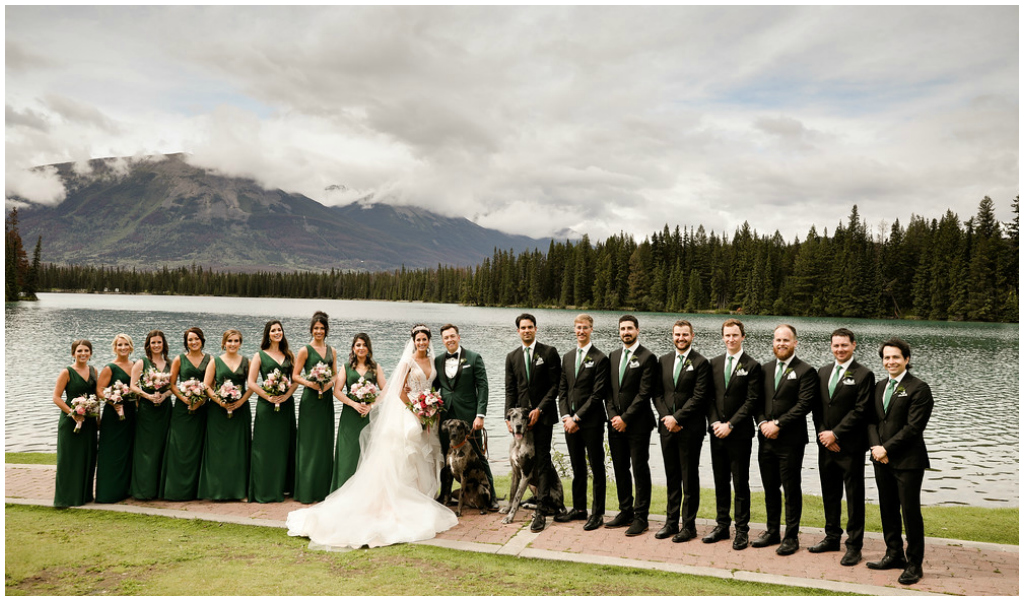 Jasper Summer Wedding on Lake Beauvert