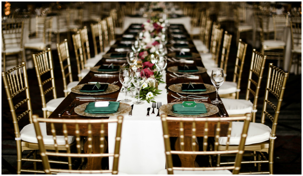 Emerald Blush and White Wedding at the JPL