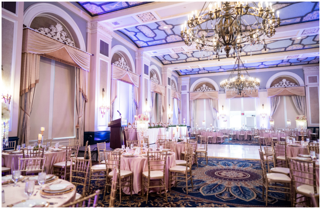 Classic Gold and Silver Ballroom Wedding Edmonton