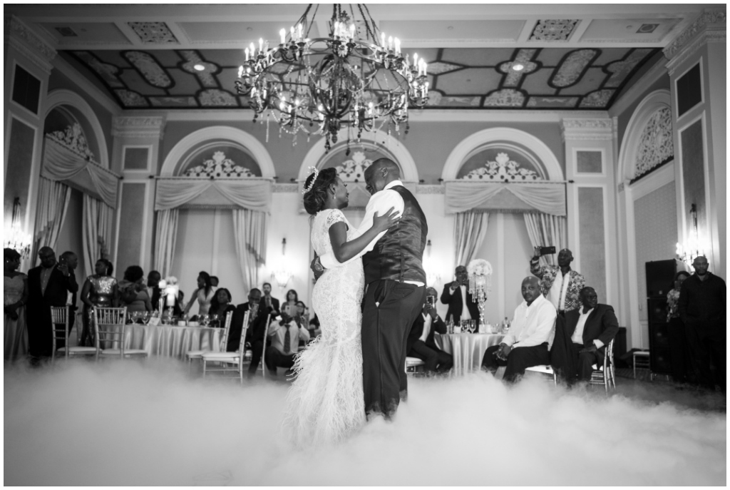 Dry Ice Fog First Dance in the Empire Ballroom Edmonton