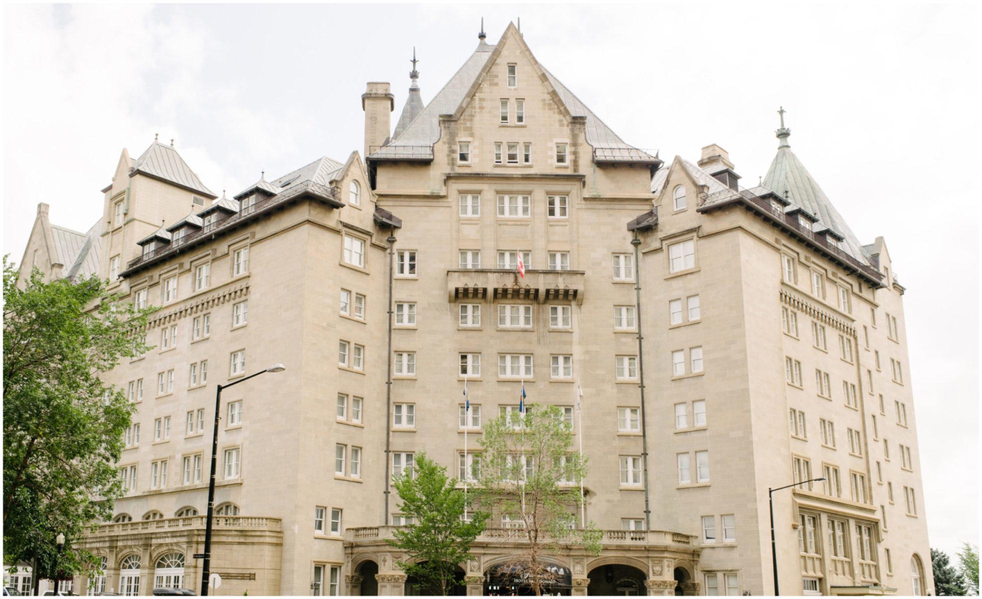 Fairmont Hotel Macdonald Wedding Planner
