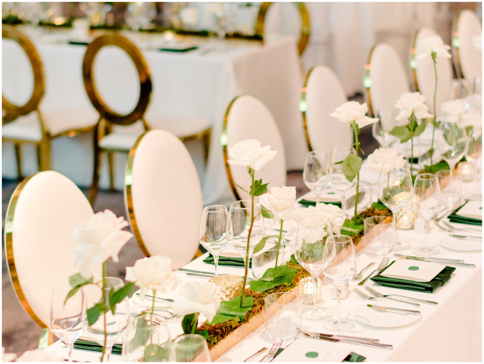 Elegant Luxe White and Gold Wedding Decor Edmonton