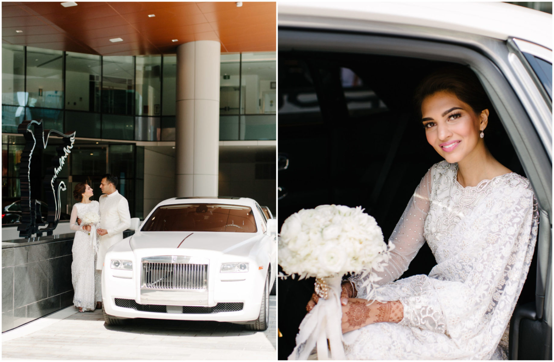 Fabloomosity Edmonton, White Bentley Wedding Getaway