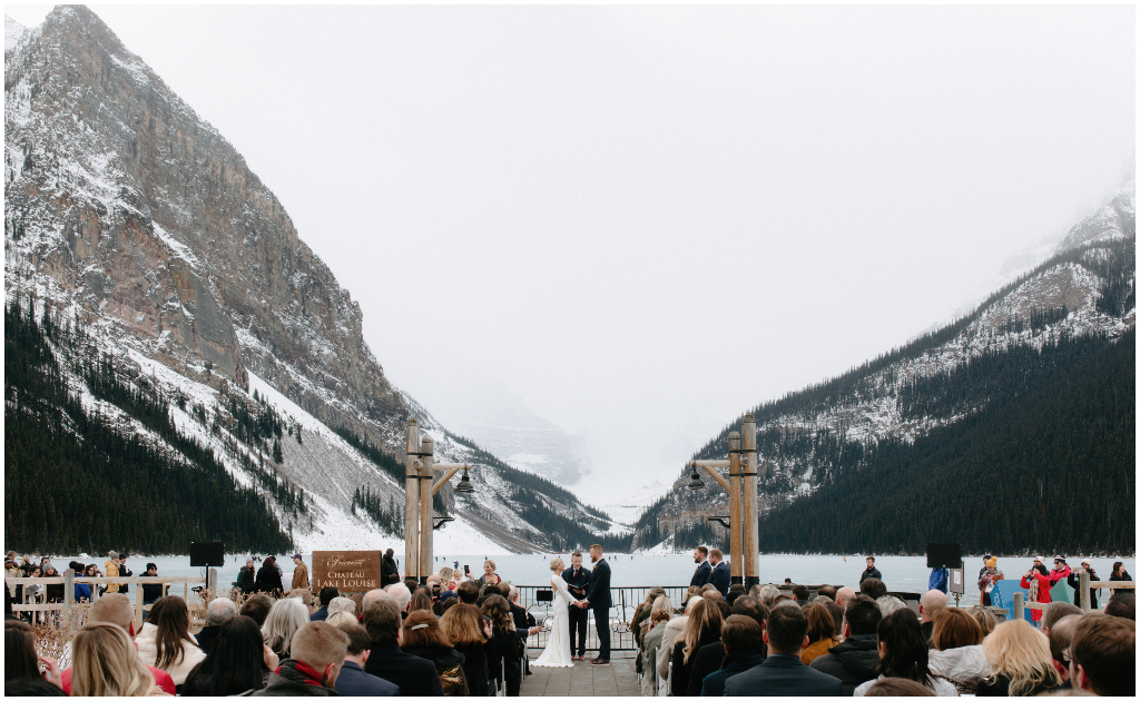 Rocky Mountain Outdoor Winter Wedding