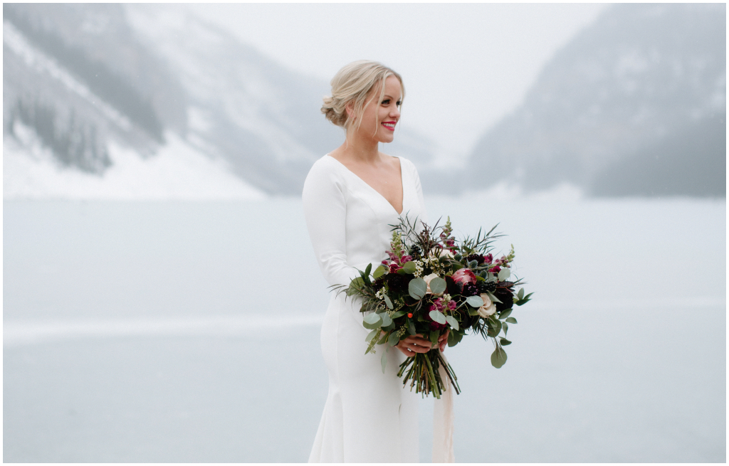 Lake Louise Elegant Winter Wedding