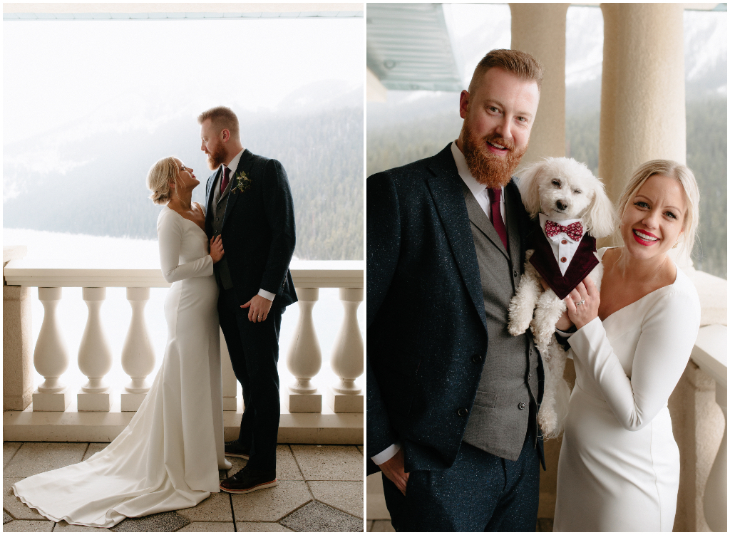Dog in a wedding tux