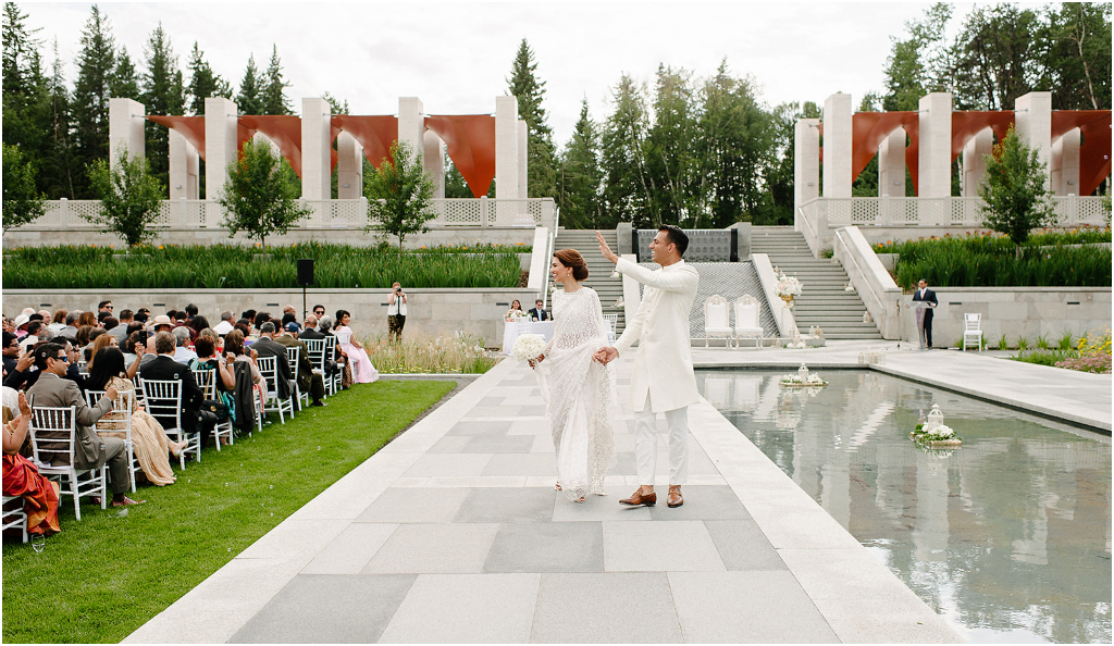 Aga Khan Garden Wedding Ceremony Edmonton