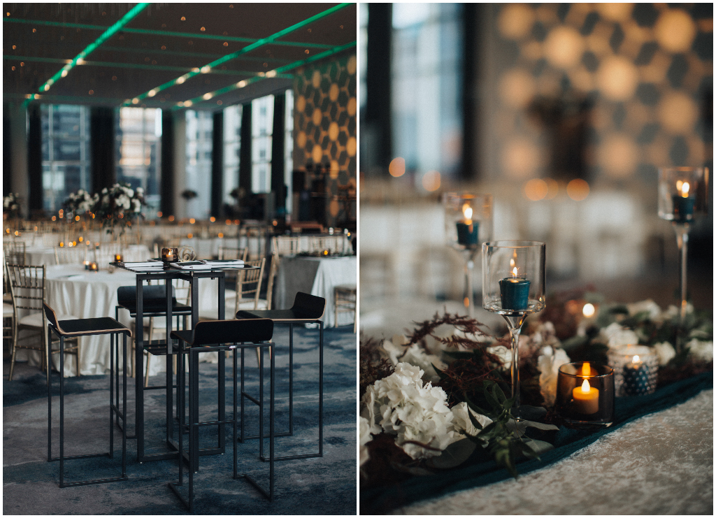 Modern Edmonton Reception with Mixed Seating